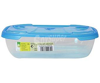 Productos Económicos Alcampo Recipiente hermético retangular de plástico con tapa, 1,15 litros 1 Unidad