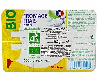 Auchan Petit natural ecológico rik&rok 6 unidades de 60 gramos 6x60g