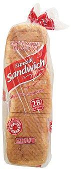 Hacendado Pan molde blanco 28 rebanadas especial sandwich Paquete 820 g