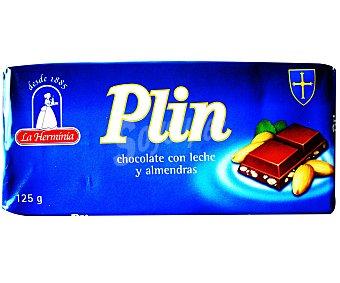 PLIN Chocolate con leche y almendras 125 Gramos