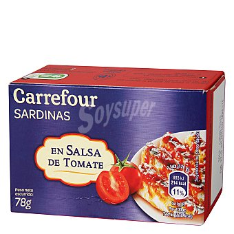 Carrefour Sardinas en salsa de tomate 78 g