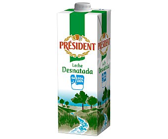President Leche Desnatada Brik 1 litro