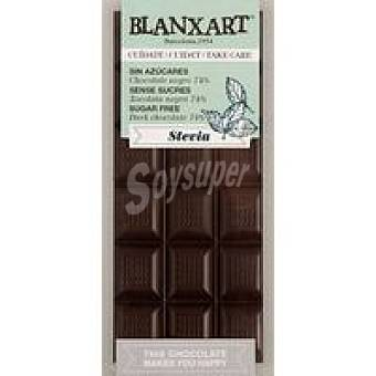BLANXART Tableta choco negro 74% sin azucar stevia 100 g