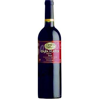 CasaMayor Vino tinto reserva D.O. Rioja elaborado para grupo El Corte Inglés Botella 75 cl