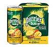 Bebida refrescante a base de agua con gas y zumo de piña y mango 4 uds. x 250 ml Perrier Nestlé
