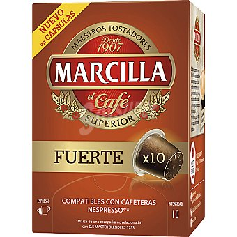 MARCILLA Fuerte cafe natural estuche 52 g 10 capsulas