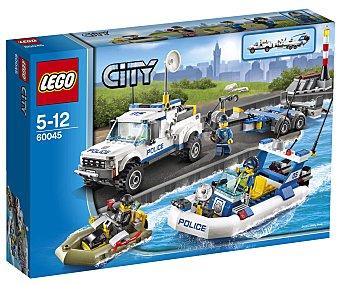 LEGO Juego de Construcción City Police, Patrulla de Policía, Modelo 60045 1 Unidad
