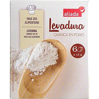 Aliada Levadura química en polvo 6 sobres Estuche 90 g