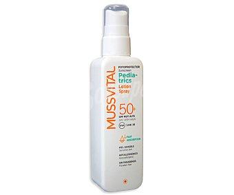 Mussvital Spray fotoprotector leche Pediatrics FP50 (protección muy alta) 200 Mililitros