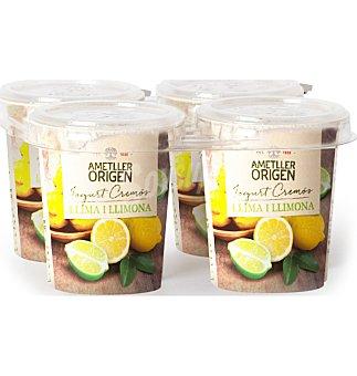 Ametller Yogur cremoso lima-limón 4 unidades