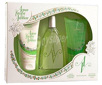 Aire de Sevilla Estuche colonia Agua Fresca de Azahar 150 ml. + crema corporal 150 ml. + gel exfoliante 150 ml. 1 ud 1 ud