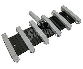 KOKIDO Limpiafondos manual flexible de 8 centímetros modelo élite 4, con contrapesos de acero y ruedas 1 unidad
