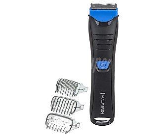 REMINGTON BHT 250, Afeitadora corporal uso en mojado y seco, 3 peines, hasta 60 minutos de autonomía