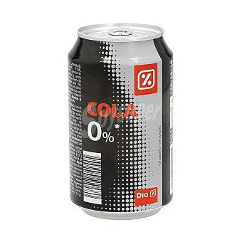 DIA Refresco de cola cero lata 33 cl Lata 33 cl