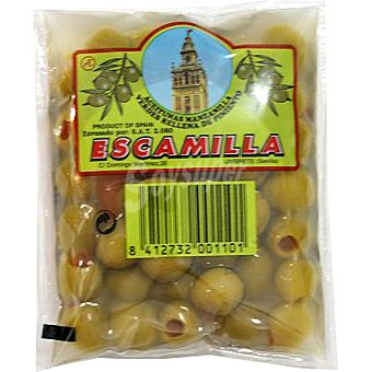 Escamilla Aceitunas manzanilla rellenas de pimiento bolsa 95 g Bolsa 95 g