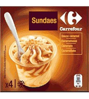Carrefour Helado sundae caramelo Caja de 4 unidades