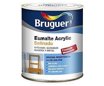 Bruguer Esmalte decorativo acrílico de color negro y acabado satinado 0,75 litros