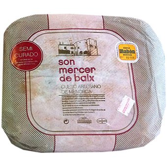 SON MERCER DE BAIX Queso artesano semicurado de leche de vaca recién ordeñada origen Mahón pieza 300 g 300 g