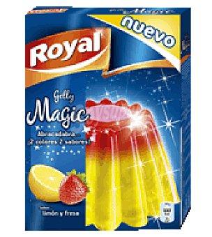 Royal Gelatina mágica sabor limón y fresa 100 g