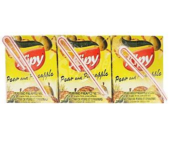 Kipy Néctar de pera/piña Pack de 3 Unidades de 200 Mililitros