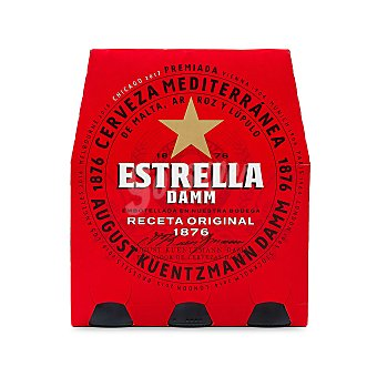 Estrella Damm Cerveza Pack 6 x 25 cl