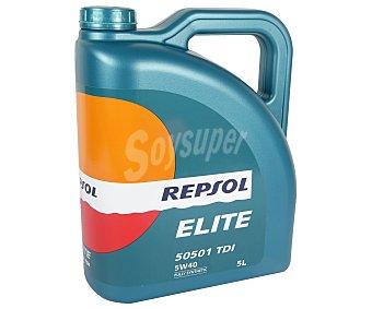 REPSOL Aceite sintético para vehículos diésel, 50501 TDI 5 Litros
