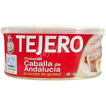 TEJERO Filetes de caballa de Andalucía en aceite de girasol lata 618 g neto escurrido