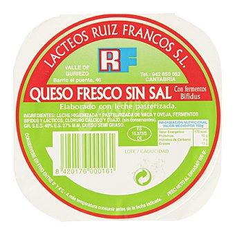 Ruiz Francos Queso fresco bio sin sal 500 g