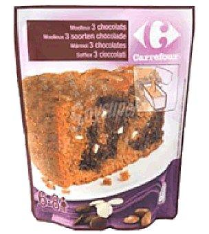Carrefour Masa bizcocho 3 chocolates 550g