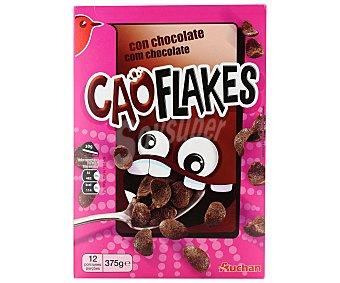 Auchan Cereales Cao Flakes (copos de trigo con chocolate) 375 gramos