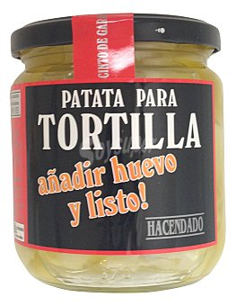 HACENDADO TORTILLA PATATA CON CEBOLLA PREPARADO (SIN HUEVO) TARRO 340 g
