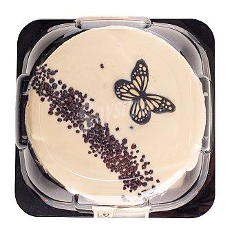 Mercadona Tarta blanca 6 raciones (redonda) pasteleria congelada (cobertura blanca con relleno sabor a nata y a cacao) 1 u - 500 g