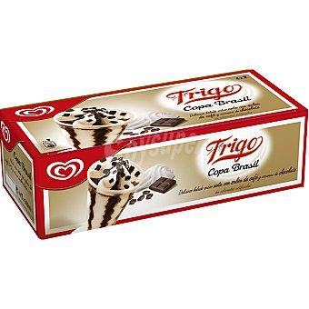 Frigo Helado nata con café y virutas de chocolate Copa Brasil estuche 500 ml 4 unidades