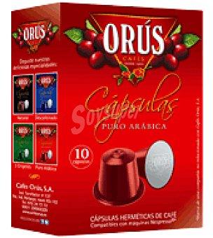 Orus Café puro de Arábiga en cápsulas 10 ud