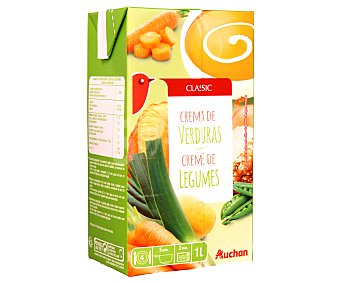 Auchan Crema de verduras variadas 1 litro