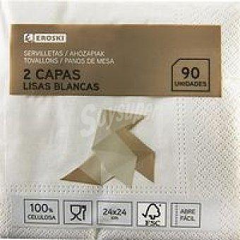 Eroski Servilletas cocktail 2 capas 24x24 Paquete 90 unid