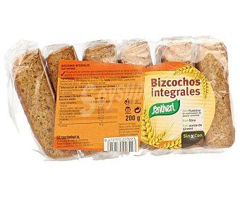 SANTIVERI Bizcochos integrales sin azucar bandeja 200 g