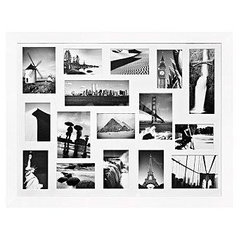 HERGON Marco con multiventanas de 60 x 80 cm en color blanco 1 Unidad