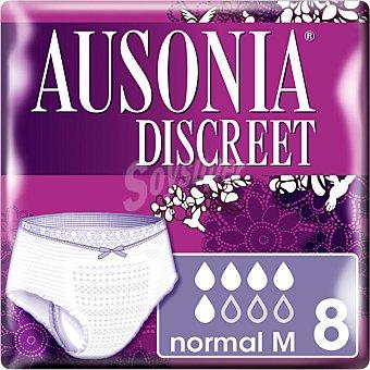 Ausonia discreet Compresa normal para pérdidas de orina de cintura baja M-70-100 cm bolsa 8 unidades bolsa 8 unidades