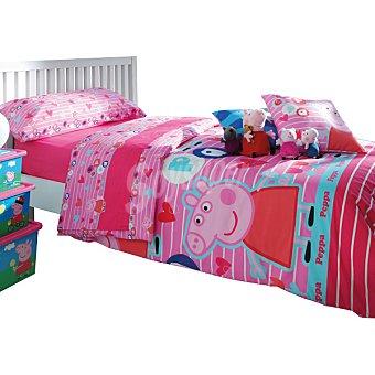 Peppa pig Juego de sábanas en rosa para cama 90 cm