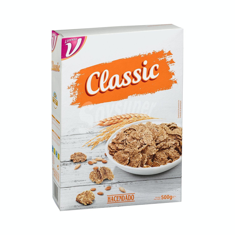 Hacendado Cereal Copos Arroz Trigo Integral Caja De 500 G