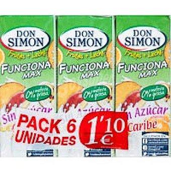 Don Simón Funciona Caribe sin azúcar Pack 6x200 ml