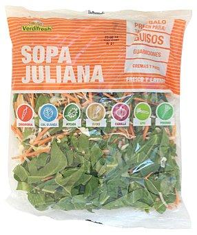 Verdifresh Verdura para sopa juliana mix de 7 verduras fresca Bolsa de 400 g