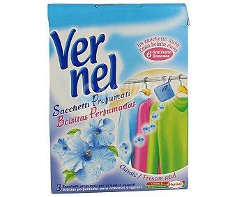 Vernel Bolsitas perfumadas frescor azul para armarios y cajones 3 unidades