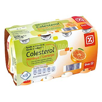 DIA Yogur líquido reducecolesterol naranja Pack 8 unidades 100 ml