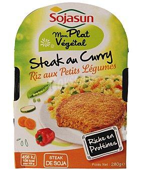 Sojasun Hamburguesa de soja al curry más arroz con verduras 280 g