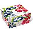 Yogur de soja sabor arándanos y frutos rojos pack 4 unidades 125 gr pack 4 unidades 125 gr Alpro Asturiana