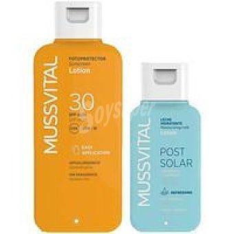 FP30 MUSSVITAL Leche Bote 200 ml + Post solar leche 100 ml