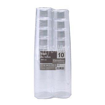 Carrefour Home 10 Vasos Tubo de Plástico 5,6x41,05cm - Transparente 10 ud