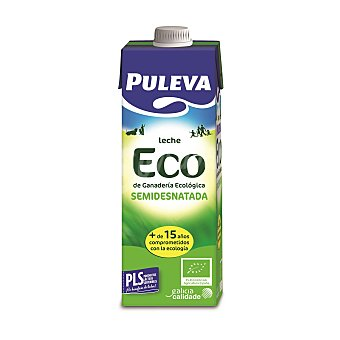 PULEVA Leche semidesnatada ecologica envase 1 l